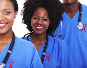 medici con nastro rosso HIV