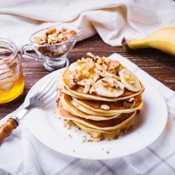 Pancake banana miele
