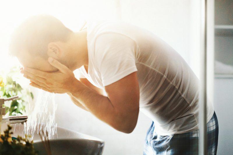 lavare barba